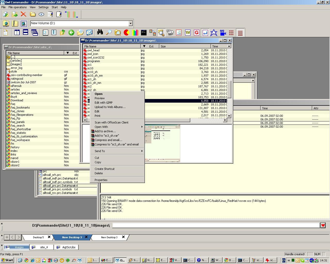 Standart file menu