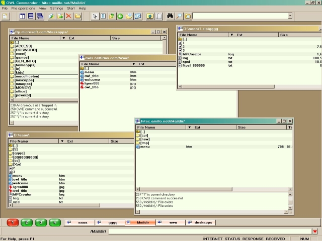 Owl Commander is a multi panel file manager